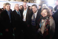Con el ministro del Interior, Jorge Fernández Díaz; Isabel Bonig, Alfonso Bataller y Javier Moliner en la Convención Nacional