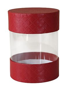 Rigid Set-up Box, Pretzel Cylinder, 5th Ave. Red, Small, QTY/CASE-24