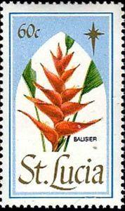 Sello: Balisier (Santa Lucía) (Christmas 1988) Mi:LC 939,Sn:LC 929
