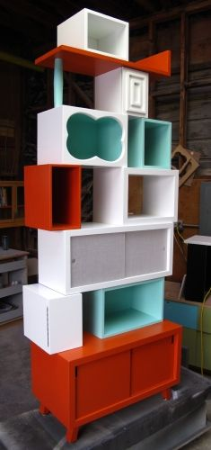 This guy is awesome! He take old cabinets, tables, shelves, whatever, and turns them into fabulous creations. I'm inspired! This one is called 'Rock Candy' - by Thomas Wold
