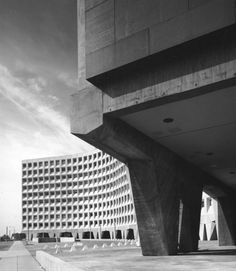 From Bauhaus Student to Brutalist Supreme: Highlights by Marcel Breuer - Photo 2 of 9 - Breuer's Headquarters for Urban Development in Washington, D.C., is a monolithic testament to Brutalism, elevated by massive concrete pillars. Breuer's building came in $4 million under budget, a fact that led to more commissions from the U.S. government. (1963-1968)