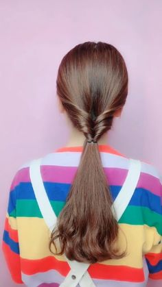 Girly Hairstyles, Bun Hairstyles For Long Hair, Braided Hairstyles For Wedding, Elegant Hairstyles, Pretty Hairstyles, Front Hair Styles, Medium Hair Styles, Hair Style Vedio, Hair Tutorials For Medium Hair