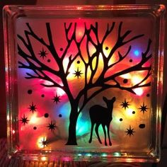 18 Clever Hacks for Christmas Lights 18 Clever Christmas Light Crafts – Lighted Glass Craft Blocks Christmas Projects, Holiday Crafts, Christmas Crafts, Christmas Decorations, Christmas Ornaments, Christmas Lights, Christmas Wood, Painted Glass Blocks, Lighted Glass Blocks