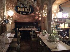 allestimento caffè DANIELI - Bassano del grappa | ottobre 2014 | astrolamp - lampade in ceramica | chiarasonda.it