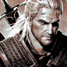 'The Witcher 3: Wild Hunt' Geralt by Ilya Kuvshinov