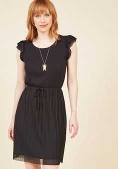 Positive Philosophy Knit Dress in Noir