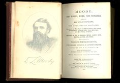 People got excited when Rev. Moody came to town to preach. This is the 1877 first edition, bound in handsome 1/4 leather and with lush marbled end-papers. Probably the nicest copy available on line.