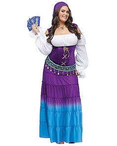 Gypsy Moon Womens Plus Size Theatrical Costume - Spirithalloween.com