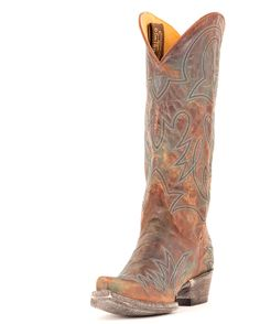 $430 Old Gringo Women's Lauren Boot - Brass/Turquoise | www.countryoutfitter.com