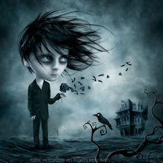Dark & Beautiful Art by Toon Hertz - Gothic Life Tag Art, Dark Fantasy, Fantasy Art, Dark Side, Art Sinistre, Arte Emo, Art Noir, Gothic Artwork, Gothic Drawings