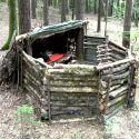 Nice DIY Shelter and Hunting Camp
