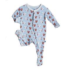 KicKee Pants Baby Boys Footie Pajama- Moss, 12-18 Months