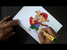 Bal Ganesh Drawing Easy || Draw Cute Bal Ganesha || Ganesh Chaturthi Special || How to Draw Ganpati - YouTube Disney Wall Murals, Ganesha, Easy Drawings, Cute, Youtube, Fictional Characters, Easy Designs To Draw, Kawaii, Ganesh