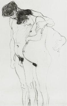 #mycoolness #art collection. #GustavKlimt - (Hope I) 1903-04 Estudio para la esperanza.