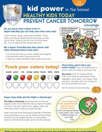 Tips to help your kids stay healthy for life! Healthy Kids Today — Prevent Cancer Tomorrow campaign | Super Kids Nutrition