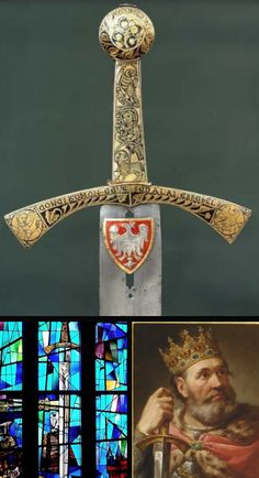 Szczerbiec, the sword of Boleslaw the Brave of Poland. He famously notched the blade against the Golden Gate of Kiev when he entered the city in 1018. The action was traditionally repeated by his descendants when they came to Kiev during subsequent reigns.  Bolesław I the Brave of Poland Direct ancestor (29 generations)