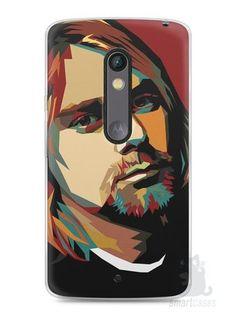 Capa Capinha Moto X Play Kurt Cobain