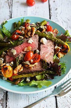 Warm Balsamic Steak and Vegetable Medley #balsamic #steak #veggies