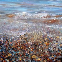Lorna Holdcroft | 'Littoral Line' ~ Acrylic on canvas