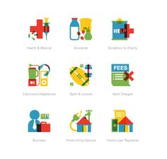 Beautiful icons. I like the overprint effect.