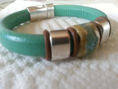 Licorice Leather Turquoise by CowGirlUpcycle on Etsy Leather Bracelets, Leather Jewelry, Jewelry Accessories, Unique Jewelry, Turquoise, Trending Outfits, Handmade Gifts, Vintage, Etsy