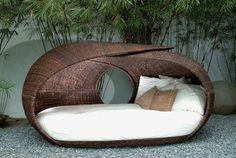 Home Design Interior: modern garden furniture Modern Garden Furniture, Outdoor Furniture Design, Green Furniture, Wicker Furniture, Furniture Ideas, Pool Furniture, Furniture Inspiration, Outdoor Spaces, Outdoor Living