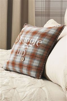 Snuggle Up Check Cotton Cushion from Next