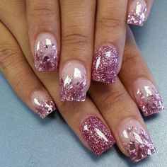 50 Best Acrylic Nail Art Designs Ideas Amp Trends 2014 Fabulous Glitter Acrylic Nail Designs New . Fabulous Nails, Gorgeous Nails, Pretty Nails, Amazing Nails, Fancy Nails, Pink Nails, Gel Nails, Nail Polish, Clear Nails