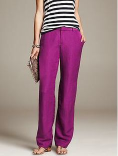 Need. For my lazy days! Linen Blend Wide-Leg Pant - Pants
