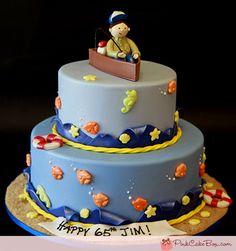 65th Fisherman's Birthday Cake » Birthday Cakes