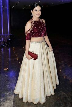 Buy Silk Lehenga Choli In White Colour @ ninecolours.com. Free Shipping in India available!
