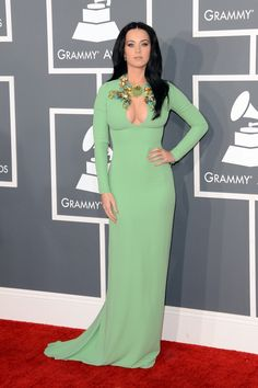 Katy Perry wears Gucci at the 2013 Grammy Awards in LA