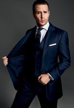(Sam Rockwell In Polo Ralph Laurenu0027s Wool Three Piece Suit) Franco Business  Kleider
