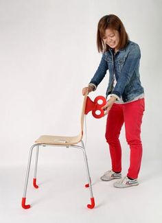 A Wind-Up chair that charges your smartphone as you sit comfortably on the chair.