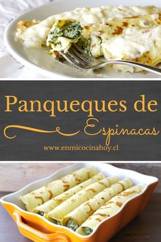 Pancakes with spinach are very common in Chile, a classic meal and . Vegetarian Recipes, Snack Recipes, Cooking Recipes, Healthy Recipes, Chilean Recipes, Chilean Food, Great Recipes, Favorite Recipes, English Food