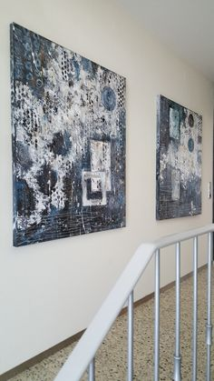 Yvonne Fuchs, abstracte Malerei auf Leinwand, 1m x 1,20m x 3,8cm