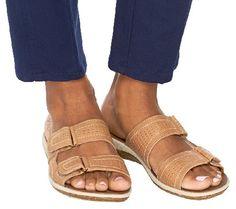 Clarks Double Strap Leather Sandals - Taline Pop