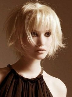 Blonde Messy Chopped Short Haircut