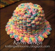 Knitting With Looms: Baby Girl Hat