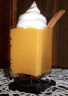 Weight Watchers Fat-Free Pumpkin Pudding recipe – 0 points Makes 8 servings Ingredients 1 ounce) can pumpkin 1 ounce) box sugar-free vanilla pudding mix 1 teaspoon pumpkin pie spice 1 cup water WW POINTS per serving: 0 Nutritional information p Weight Watchers Pumpkin Pudding Recipe, Weight Watchers Desserts, Pudding Recipes, Ww Recipes, Skinny Recipes, Fat Free Recipes, Skinny Meals, Shake Recipes, Sugar Free Vanilla Pudding