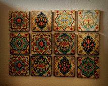 Hamsa Hand Moroccan Wall art Set wall Blocks 8x8 Set of 12 FREE or monogramming…