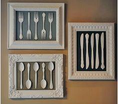 Arte e arteirice: Quadros na cozinha!