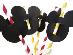 Etsy listing at http://www.etsy.com/listing/111963537/set-of-12-mickey-straws-with-toppers