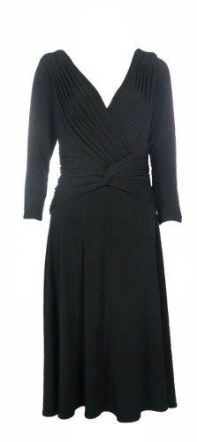 Tadashi Collection Womens Black Stretch Deep V-Neck Dress M (X-Large) [Apparel] Tadashi Collection http://www.amazon.com/dp/B006C1B4I8/ref=cm_sw_r_pi_dp_hQFcvb00TXT3Z