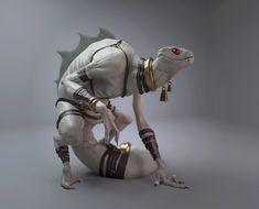 Snake-Man, Xavier Dabrowski on ArtStation at https://www.artstation.com/artwork/g5ln8