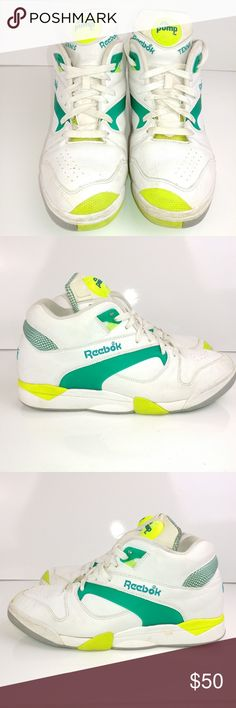 88c53d78021b Shop Men s Reebok size 11 Athletic Shoes at a discounted price at Poshmark.  Description  A pair of retro pumps. Reebok pump tennis shoes size  Sold by  Fast ...