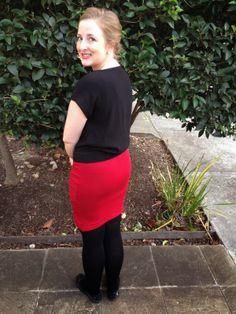 Teach Me Fashion Draped Skirt #teachmefashion #skirt #sewing