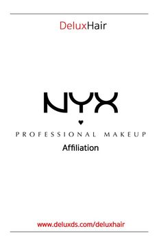 DeluxHair is now in affiliation with NYX Professional Makeup! DeluxHair is now an affiliate of NYX Professional Makeup! Natural Haircare, Nyx, Natural Hair Styles, Makeup, Make Up, Beauty Makeup, Bronzer Makeup