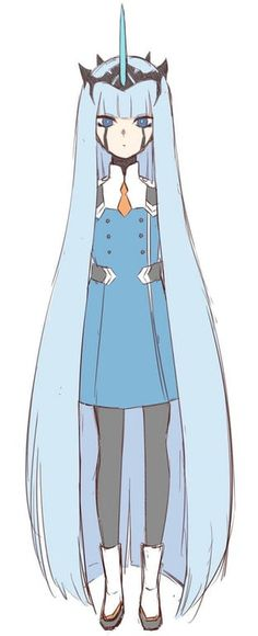 Zero One in human form and uniform Manga Anime, Anime Art, Character Concept, Character Design, Pokemon, Zero One, Fanart, Darling In The Franxx, Anime Couples