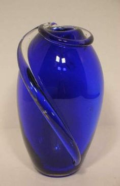 Midnight Blue Murano Art Glass Vase Hand Blown http://stores.ebay.com/beachcats-bargains beachcats bargains